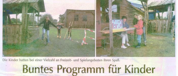 Buntes Programm für Kinder